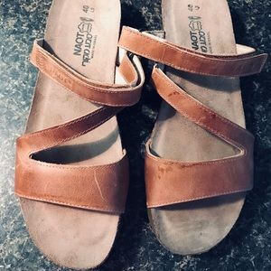 NAOT Leather Sandals NWOT SZ 9 never Worn